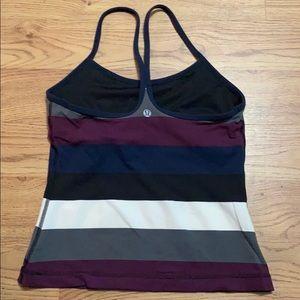 LULULEMON Purple Striped Tank Top Size 4